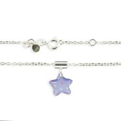 Pendentif et chaîne fine étoile