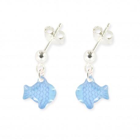 boucles d'oreilles pendantes poisson Ribambelle bijoux enfants fille