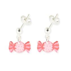 Boucles d'oreilles pendantes bonbon