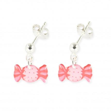 boucles d'oreilles pendantes bonbon Ribambelle bijoux enfants fille