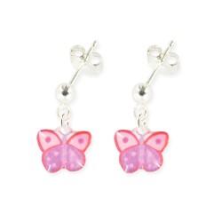 Boucles d'oreilles pendantes papillon