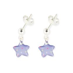 Boucles d'oreilles pendantes étoile