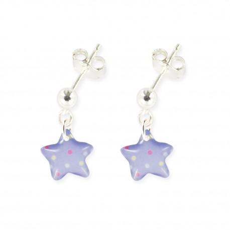 boucles d'oreilles pendantes étoile Ribambelle bijoux enfants fille