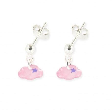 boucles d'oreilles pendantes nuage Ribambelle bijoux enfants fille