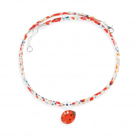 Collier Liberty coccinelle