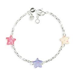 Bracelet 3 motifs étoile