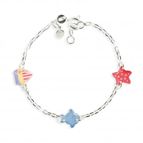 bracelet 3 motifs poisson Ribambelle bijoux enfants fille