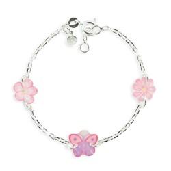 Bracelet 3 motifs papillon