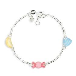 Bracelet 3 motifs bonbon
