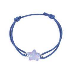 Bracelet lacet coulissant étoile