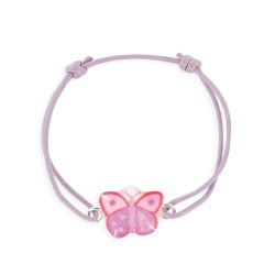 Bracelet lacet coulissant papillon