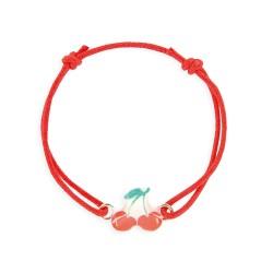 Bracelet lacet cerise