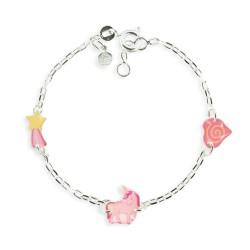 Bracelet 3 motifs licorne