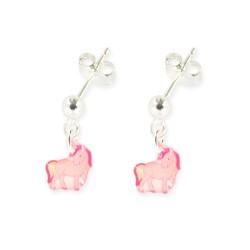 Boucles d'oreilles pendantes licorne