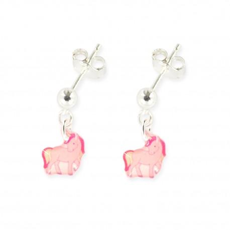 3 paires de boucles d'oreilles pendantes licorne