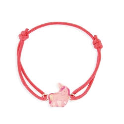 Bracelet lacet coulissant licorne