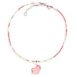 3 colliers Liberty licorne
