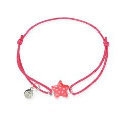 Bracelet lacet bébé étoile de mer