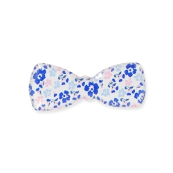 Petite barrette noeud bleu
