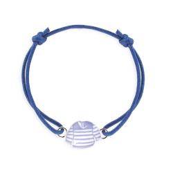 Bracelet lacet marinière