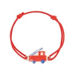 Bracelet lacet camion de pompier