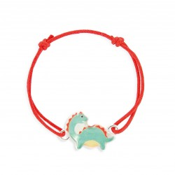 Bracelet lacet dinosaure