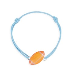 Bracelet lacet rugby