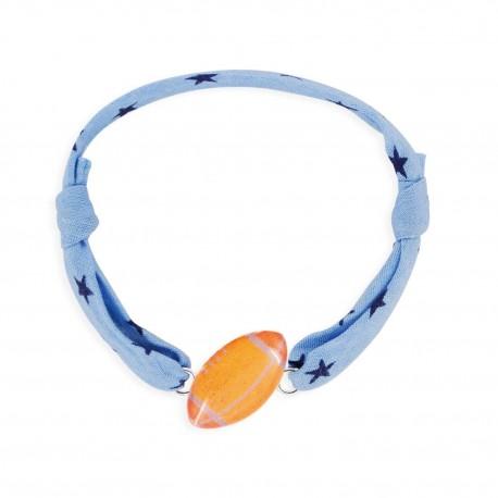 Bracelet cordon 7mm rugby