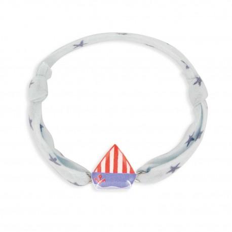 Bracelet cordon 7mm bateau