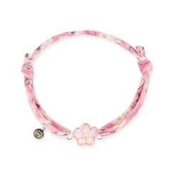 Bracelet Liberty bébé fleur rose