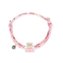 Bracelet Liberty bébé chat rose