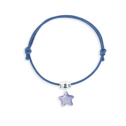 Bracelet lacet breloque étoile