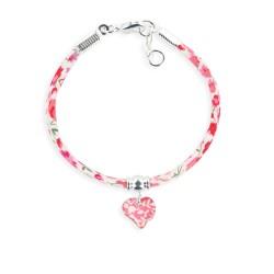 Bracelet Liberty coeur framboise