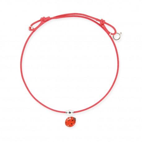 collier lacet coccinelle Ribambelle bijoux enfants fille