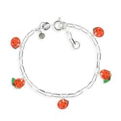 Bracelet figaro coccinelle