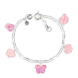 Bracelet figaro papillon