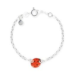 Bracelet chaîne bébé coccinelle