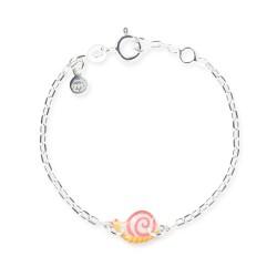 Bracelet chaîne bébé escargot
