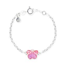 Bracelet chaîne bébé papillon