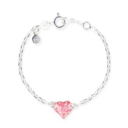 Bracelet chaîne bébé coeur