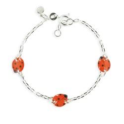Bracelet 3 motifs coccinelle