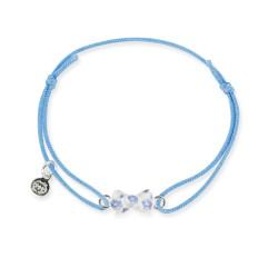 Bracelet lacet bébé noeud bleu